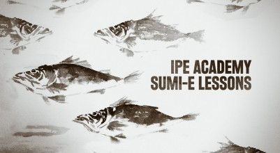 Sumi E lessons at IPE Academy in Nagoya, Japan